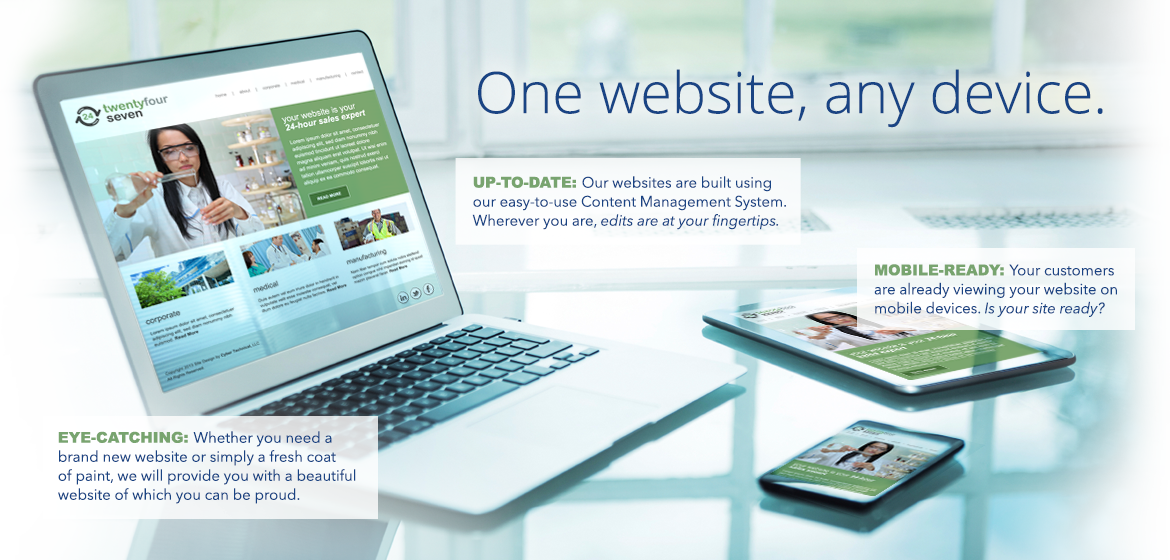 One website, any device.
